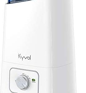 Kyvol Vigoair HD3 Humidifier, 4.5L Cool Mist Humidifiers, Whisper Quiet Ultrasonic Humidifiers for Large Bedroom, up to75 Hours Runtime Auto Shut-off, 360° Nozzle