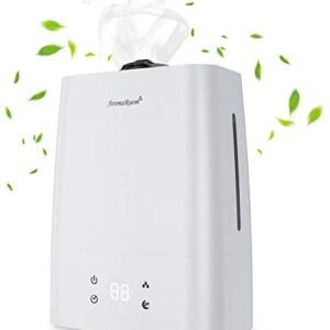 Aroma Room Air Humidifiers for Bedroom, 5.5L Cool Mist Humidifier with Aromatherapy Essential Oil Tray, Quiet Vaporizer Humidifier for Large Room Babies, 50H Run Time, 360°Nozzle, Auto Shut-Off
