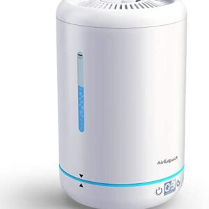 AirExpect Cool Mist Humidifier for Bedroom – Top Filling Air Humidifier with BPA Free, Ultrasonic, Whisper-Quiet, Easy Clean & Max 24h Usage, 3.5L Large Capacity for Dry Cough, Nose, Skin & Eyes
